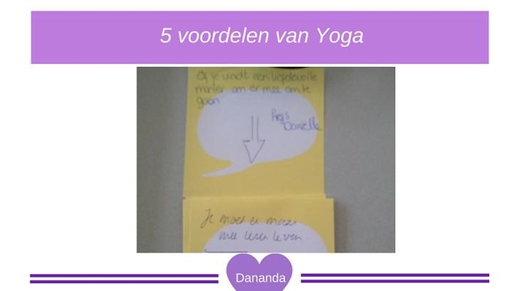 Vijf voordelen van yoga